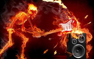 Skull-on-Fire-Best-Music-HD-Wallpaper