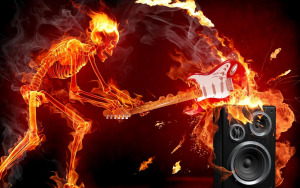 Skull-on-Fire-Best-Music-HD-Wallpaper